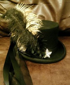 Steampunk Victorian Stevie Nicks Inspired 100% Wool by Mad4Hats