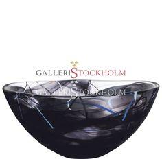 Anna Ehrner - Glaskonst - Contrast - Stor skål svart Kosta Boda Beställ här! Klicka på bilden.