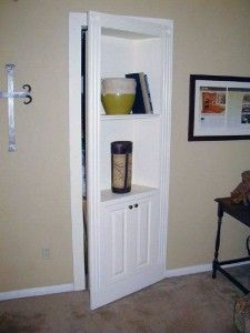 Secret Bookshelf Door Hides Room