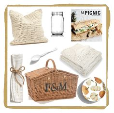 """Le Picnic"" by barngirl ❤ liked on Polyvore featuring interior, interiors, interior design, home, home decor, interior decorating, Debbie Bliss, Coyuchi, Crate and Barrel and Pottery Barn"