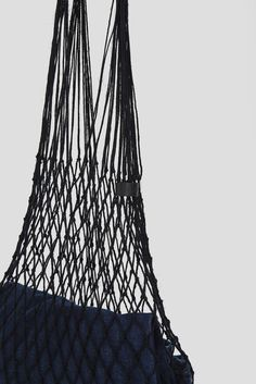 Grocery bag is a hand made bag from linen string. Itwas woven by hand in a small village of Orneta in Northeastern Poland, a