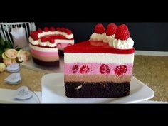 Tort Trio Mousse - delicat și fin | Pasiune & Savoare - YouTube Mousse Cake, Vanilla Cake, Ale, Cheesecake, Birthday Cake, Desserts, Food, Youtube, Tailgate Desserts