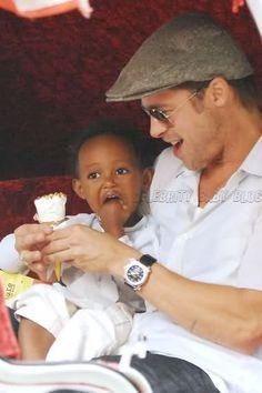 Brad Pitt with daughter Zahara
