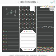 Chalk Journal Cards CU {EXCLUSIVE}