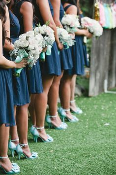 Shades of blue + mint + teal see more teal wedding,dazzling blue, royal blue mint wedding palette ,navy blue mint bridesmaids Wedding Pics, Dream Wedding, Wedding Day, Trendy Wedding, Wedding Stage, Spring Wedding, Navy Mint Wedding, Orange Weddings, Wedding Bridesmaids