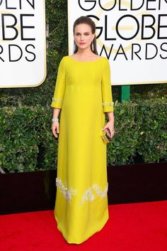 You Can't Miss Natalie Portman's Nod to Jackie Kennedy at the Golden Globe Awards