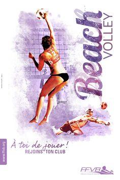 Affiche rentrée des clubs Volleyball Beachvolley FFVB