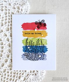 Hello crafty friends, happy Monday!! Today I want to share with you a couple of CAS cards that I've made using the newly released Flora & Fauna Wildflower Seeds and Snail Mail stamp sets …