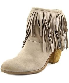 Not Rated Auriga Women's Taupe Leather Fringe Ankle Boots Size 8 NWB  #NotRated #Booties #Casual
