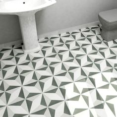 SomerTile 7.75x7.75-inch Thirties Diamond Ceramic Floor and Wall Tile (Case of 25)