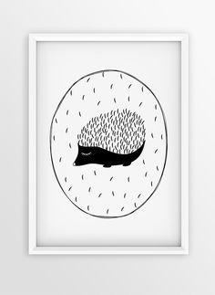 Nursery Cute Art Print Design | Illustration HEDGEHOG