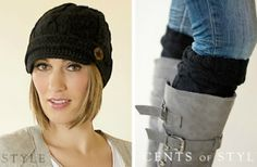 Cute hat and boot cuffs