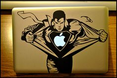 Superman  Apple Macbook Pro & Air LAPTOP by Decals4less on Etsy, $5.99