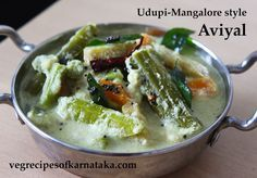 Aviyal recipe or avial recipe explained with step by step pictures and a quick video. Aviyal or avial is a mixed vegetable sambar or kootu recipe. Aviyal is prepared using mixed vegetables, coconut, cumin seeds and green chili. Aviyal or avial is very popular across Udupi Mangalore region of Karnataka. Aviyal Recipe, Kootu Recipe, Kulambu Recipe, Tomato Rasam, Raw Banana, Food Trailer, Indian Breakfast, Mixed Vegetables, Karnataka
