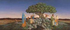 "James Christensen                                                               ""Desirable above All Other Fruit"", 2011."