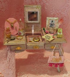 Dollhouse Miniature Furniture Lady's Dressing by LifeInspiredMinis