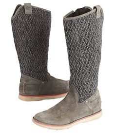 When+we+must+expect+the+unexpected.+A+surprising+marriage+of+a+toasty+knit+shaft+with+a+waxed+suede+upper.+Lightweight+and+supportive,+the+sneaker-like+footbed+cradles+feet+and+is+never+clunky.+Fleece-lined+interior+is+soft+against+our+skin,+like+zipping+our+calves+into+tiny+microfleece+comforters.+Full+zip+interior.+Catalog/web+only.+