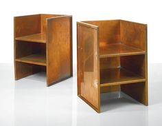 Donald Judd | Pair of Armchairs | Copper and Aluminum | 1996 | 29 5/8 x 19 3/8 x 19 3/8 in.