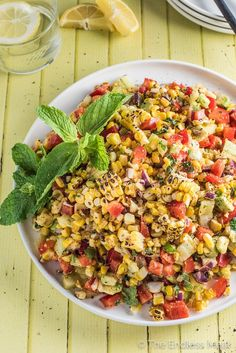 SAVE FOR LATER! This Roasted Corn and Avocado Salad is not only easy to make, but it's also super delicious. There's sweet corn, creamy avocado, crunchy peppers, and a delicious chipotle mint dressing. #theendlessmeal #corn #summerproduce #vegetables #sidedish #healthysidedish #vegetarian #glutenfree #vegan Summer Side Dishes, Healthy Side Dishes, Side Dish Recipes, Healthy Vegetable Recipes, Vegetarian Recipes, Healthy Dinner Recipes, Vegan Blogs, Detox Recipes, Clean Eating Recipes