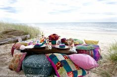 Moroccan tea party at the beach
