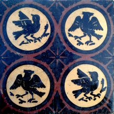 Original late C19th Gothic Revival encaustic tile. Designed by A.W.N. Pugin (?)