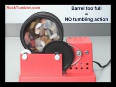 Rock Tumblers - How Much Rock to Tumble? - Great visual aid showing how to fill your tumbler.