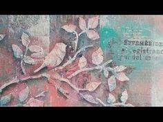 Видео мастер-класс по Микс Медиа Натальи Жуковой Многослойные фоны и тонировка акриловыми красками - YouTube