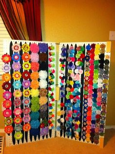 Love this idea to display bows in a craft show!