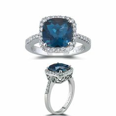 Kind of reminds me of Kate Middleton's ring. And, who wouldn't like to be like Kate Middleton? =-)