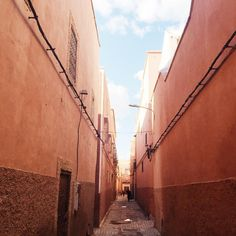 Inside the medina walls. Finding your way around the medina in Marrakesh can be quite the adventure. I only got truly lost once. In the dark. 😳 | photo credit: Samantha Petrie