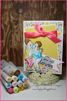 Art Impressions Rubber Stamps: Laughing Set (Sku#4385)  2014 GIRLFRIENDS