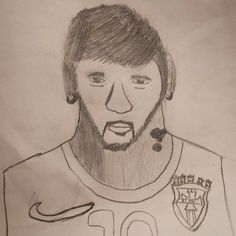 My 12 yr old son drew a pic if his favorite soccer player Neymar Jr.  #draw #soccer