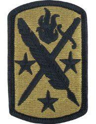 NSN: 8455-01-648-4205 (UNIT PATCH, 95TH CIVIL AFFAIRS BRIGADE, MULTICAM / OCP) - ArmyProperty.com