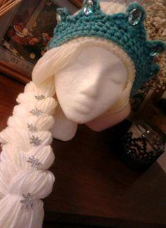 crocheted+frozen+hats | Frozen Inspired Elsa Hat by DaisyMayHandmades on Etsy