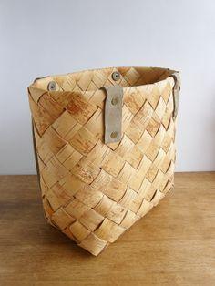 白樺のカゴ/バッグ/トートバッグ/ - シャーリーズコレクション 西欧・北欧雑貨