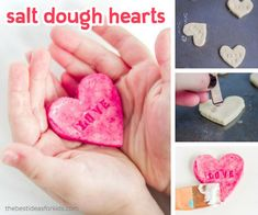 Conversation Hearts Craft Salt Dough