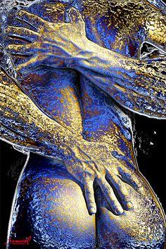 Steamy Hug. #erotic_art by Samarel