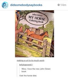 Ow, ouch... Right in the feels..... The fault in our horse's confirmation. I can see it now.