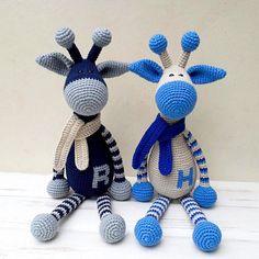 Personalized nursery toy, Crochet giraffe, Safari baby shower, Personalized gift