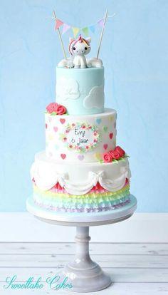 Den Kuchen selber finde ich irgendwie nicht schön, aber dieses 3 Themes dingen finde ich gut und farblich sehr himmelich