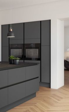 Come Integra Soho Integra Soho How to Carry a Ladder Correctly In today's world, Grey Kitchen Interior, Grey Kitchen Designs, Kitchen Room Design, Modern Kitchen Cabinets, Contemporary Kitchen Design, Kitchen Cabinet Design, Kitchen Layout, Home Decor Kitchen, Home Kitchens