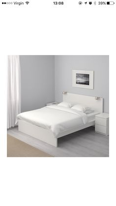 MALM Bed Frame, High IKEA Adjustable Bed Sides Allow You To Use Mattresses  Of Different Thicknesses.
