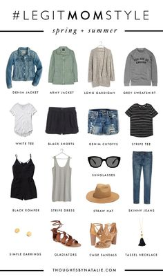 Legit Mom Style: Spring & Summer Mini Capsule – Thoughts By Natalie