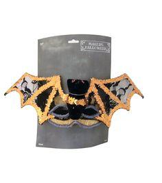 Maker's Halloween - Orange & Black Bat Mask