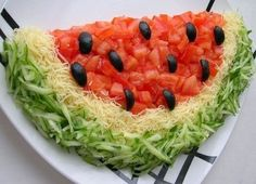 Аппетитный салат «Арбузная долька» - Сайт viviakrasotazdorove!