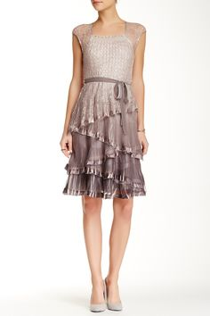 KOMAROV | Lace Chiffon Dress | Sponsored by Nordstrom Rack.