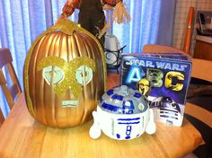 Literary Character Pumpkin C3PO R2D2