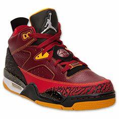 Men's Jordan Son of Mars Low Basketball Shoes | FinishLine.com | Team Red/White/University Gold