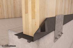 Impermeabilización de paredes de madera sobre cimientos de hormigón