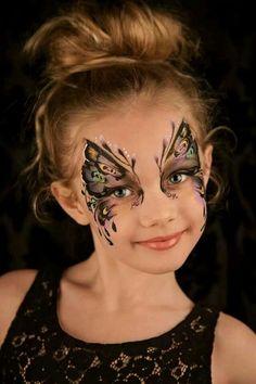 Schmetterling Gesicht-Malerei Ideen, um mit den Kleinen Versuchen (oder allein)   Schminken